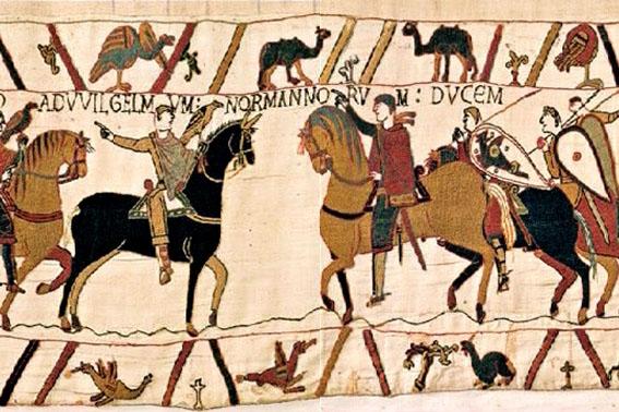 Tapisserie de Bayeux, commémorant la bonne rouste flanquée aux Anglais en 1066.